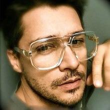 Oversize Mens Fashion Sunglasses Vintage Designer Brand Men Sun Glasses Square Frame Gradient UV400 Shades