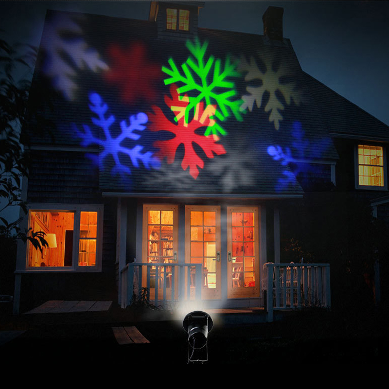 Laser Projector LED Outdoor Christmas Santa Claus Snowflake Magic Stage Effect Light Party New Year Waterproof Garden Home Decor