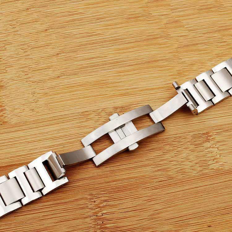 バンドのためブルーバルーンストラップステンレス鋼固体腕時計隆起ブレスレットウォッチアクセサリー交換 Strap11/12 ミリメートル