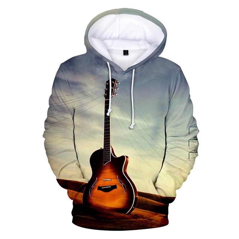 Fashion Music Electric Tone Guitar Print 3d Hoodies Pullover Men Women Hoodie Hoody Tops Casual Long Sleeve 3D Hooded Sweatshirt