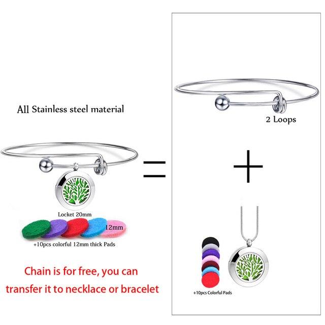 1 шт браслет из нержавеющей стали для ароматерапии