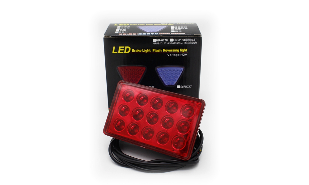 Tak Wai Lee 1X LED Car Tail Light Brake Stop Reversing Warning Lamp 20LEDs Red Flash Strobe Styling For Motorcycle ATV Truck SUV