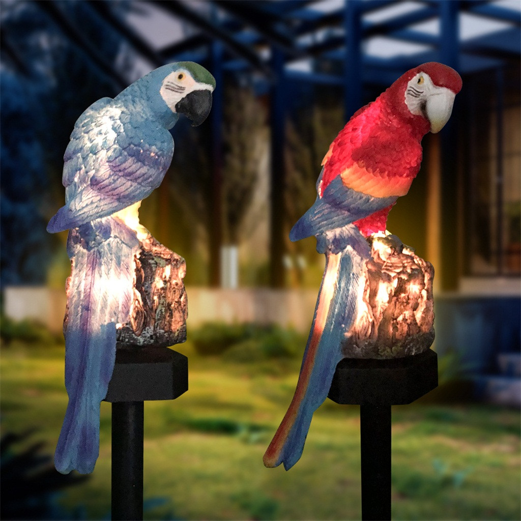 New Best Selling 2019 Products Solar Parrot Inserting Ground Landscape Light Resin Crafts Garden Light Support Dropshipping