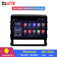 10.2 Android 8.1 for Toyota Land Cruiser 200 LC200 LC 200 GX 2016 19 Car DVD Player GPS Navigation Radio BT Tape Recorder