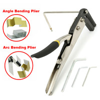 2 Types Bending Plier Manual Sheet Strip Arc/Angle Bender Steel Plier Clamp Channel Letter Tools