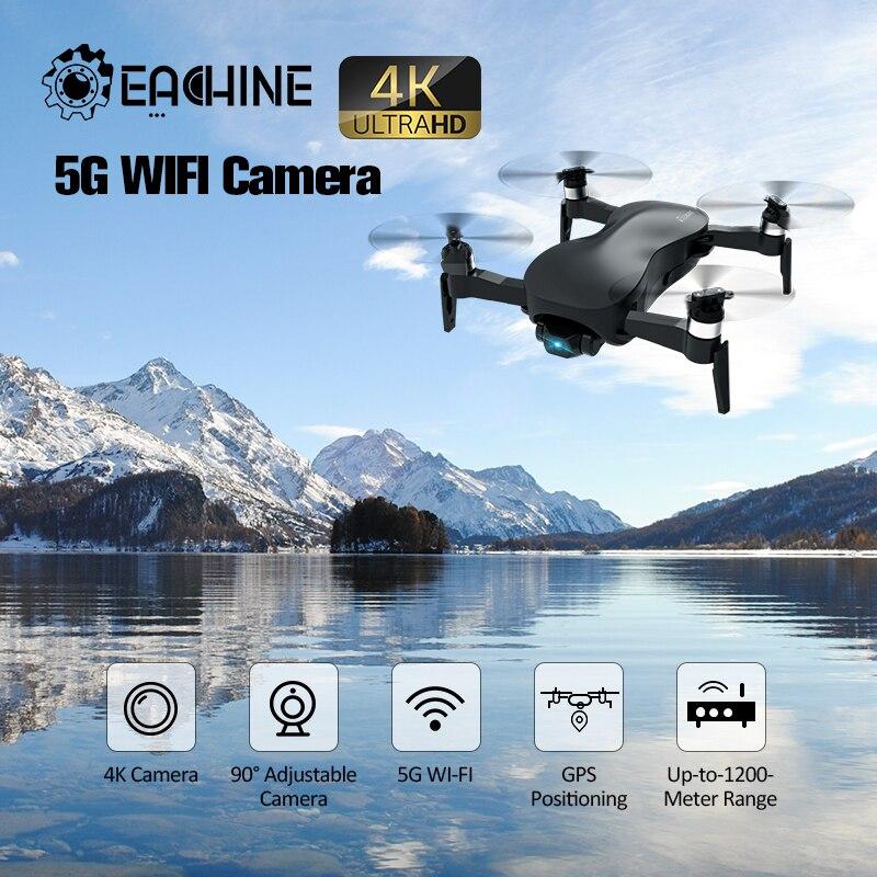 Em estoque eachine ex4 5g wifi fpv gps com câmera 4 k hd ponto cardan estável de 3 eixos de interessante vôo rc zangão quadcopter rtf