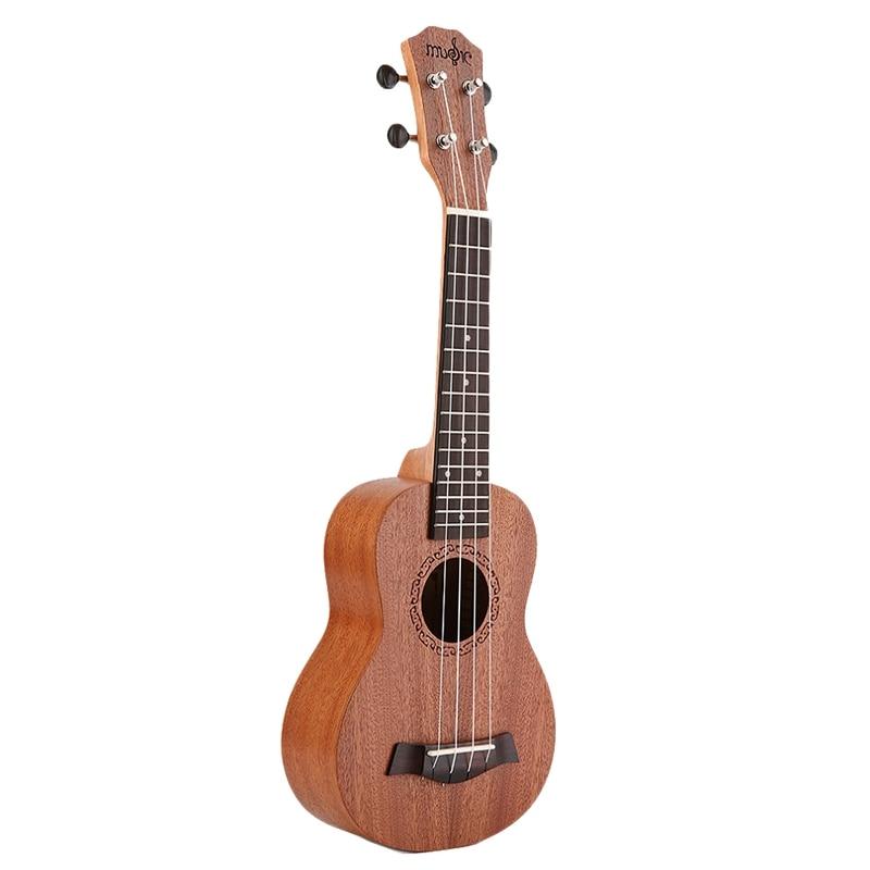 21 Inch Ukulele Soprano Beginner Ukulele Guitar Ukulele Mahogany Neck Delicate Tuning Peg 4 Strings Wood Ukulele