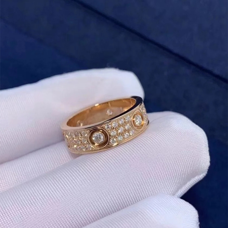 2021 Trend 100% Sterling Silver S925 Men's And Women's Rings Luxury Jewelry High-Quality On Behalf Of Love