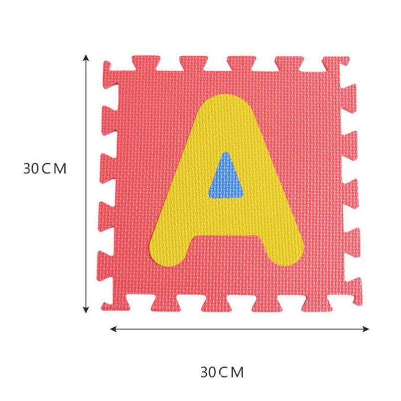 H90d59cbe89164bdca11e6d860e39f3eeP 30*30cm Foam English Alphabet Number Pattern Play Mat For Baby Children Puzzle Toy Yoga Letter Crawling Mats Rug Carpet Toys