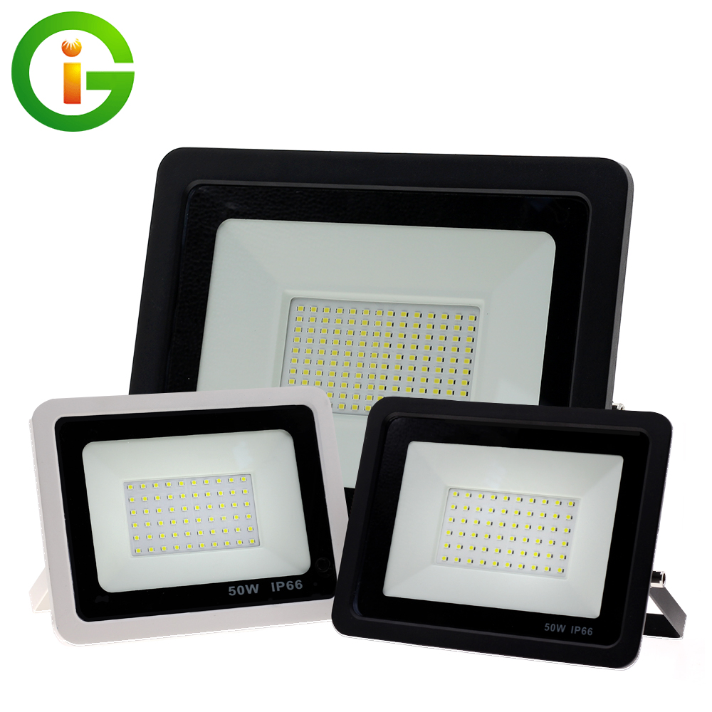 LED Floodlight Ultra-thin 220V 10W 30W 50W 100W LED Flood Light Reflector Waterproof Spotlight Outdoor Lighting Garden Wall Lamp