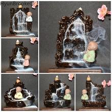 Backflow Incense Cones Burner-Use Teahouse Home-Decor Zen Creative The Little Monk 10pc