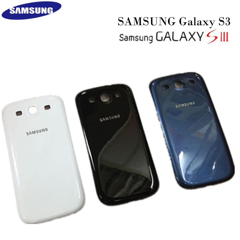 Original Samsung Galaxy S3 i9308/i9305 S3 Mini i8190 Glass Housing Battery Back Cover Rear Door Case Replacement Part Free Tools image