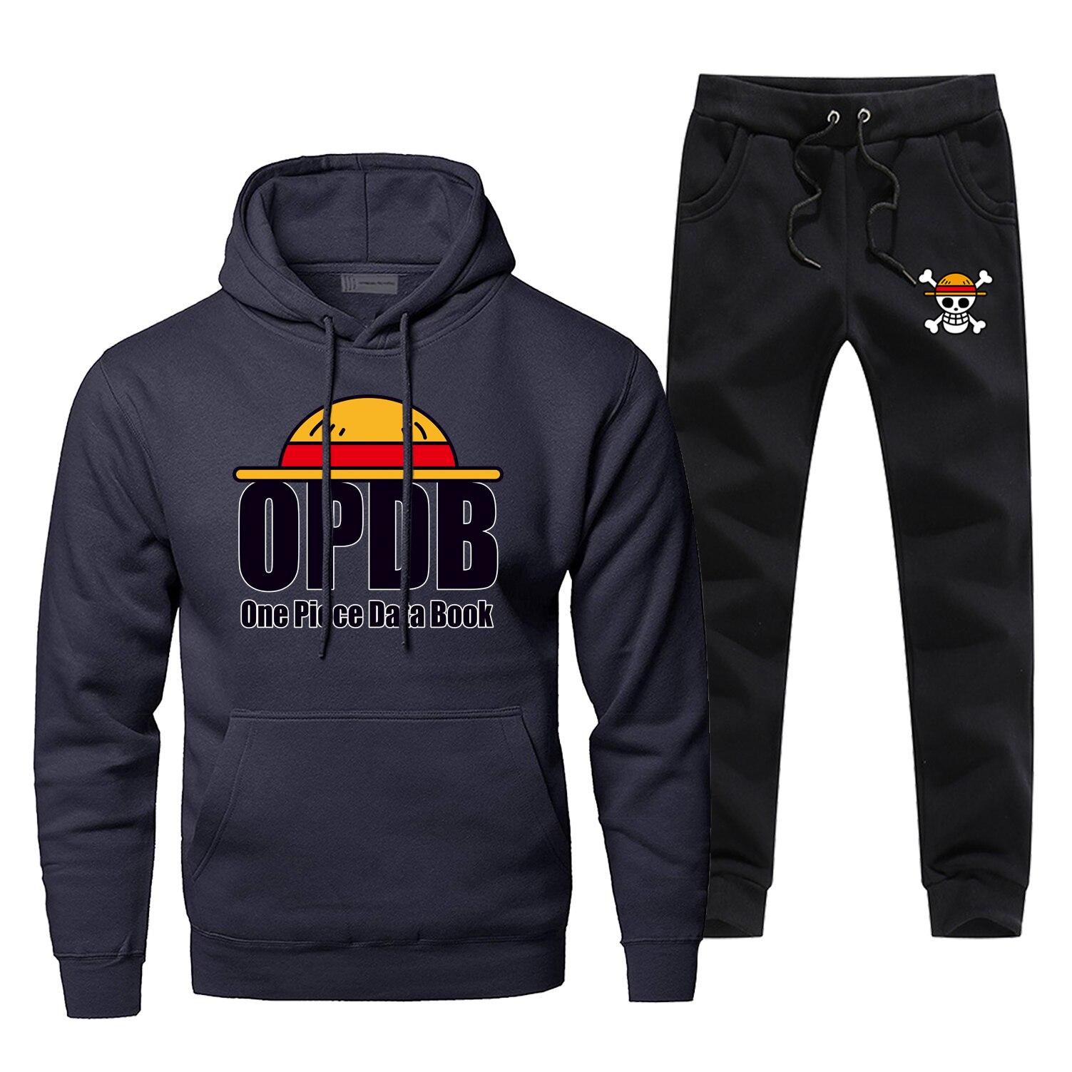 Mens Hoodies One Piece Sets Two Piece Pant Hoodie Sweatshirt Japan Anime Sweatpants Streetwear Sportswear Harajuku Sweatshirts