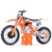 Bburago 1:18 2018 KTM-450 SX-F фабричное издание статические литые автомобили, коллекционные модель мотоцикла, игрушки