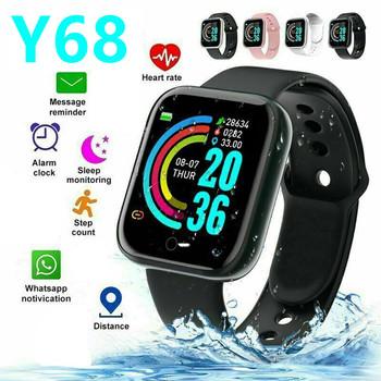 Y68 Bluetooth inteligentna bransoletka kolorowy ekran bransoletka tętno Fitness sportowy krok oddychanie światło wodoodporny ruch Smartwatch tanie i dobre opinie ONLENY CN (pochodzenie) Dla systemu iOS Android Na nadgarstek Zgodna ze wszystkimi 256MB Do pomiaru wilgotności Wiadomości z przypomnieniami