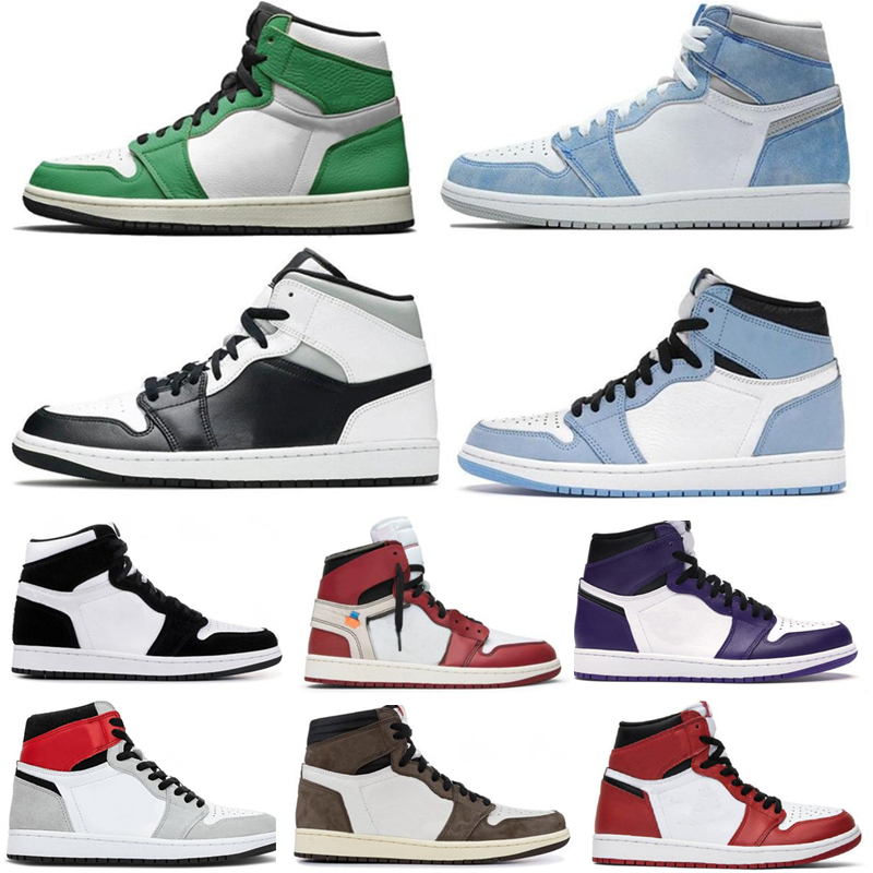 Sneakers Mens Basketball-Shoes Royal Bred Green Quality OG Trainers Women High-1 Pine