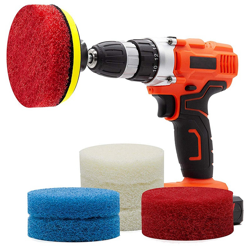 Power Scrub Pad Drill Attachment  Cleaning Kit Scouring Pads with Baker and Universal Shaft Great for Kitchen  Bathroom  Auto  K|Grinders| |  - title=