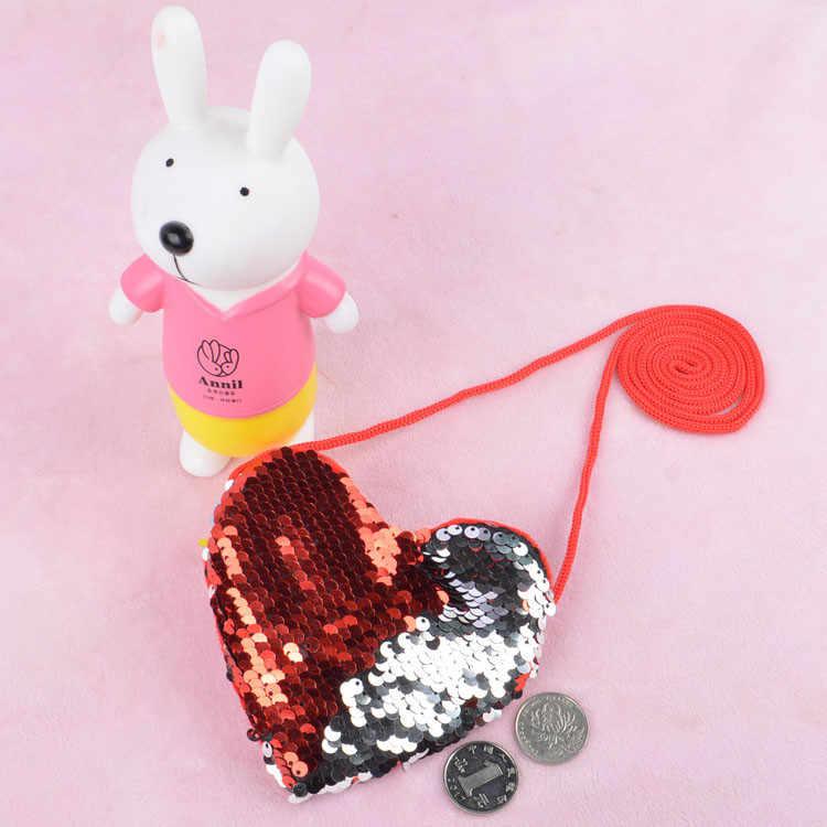 かわいいミニバッグ女性女の子マーメイドスパンコールコイン財布財布ミニメッセンジャーバッグハンドバッグ Bolsos デマーノ