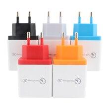 цена на AC DC Universal Power 5V 3A Adapter Supply 4-Ports USB Charger Mobile phone AC/DC USB 5 V Power Adapter 220V To 5V EU Plug