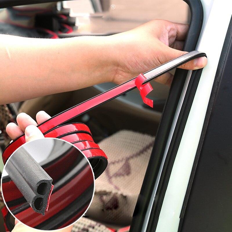 5 metros de vedação da porta do carro tiras adesivo b forma weatherstrip selos borracha isolamento acústico vedação automóveis acessórios interiores