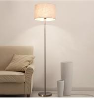 Living room floor lamp fabric shade E27 brushed nickel good quality LED bulbs light for living room bedroom study room