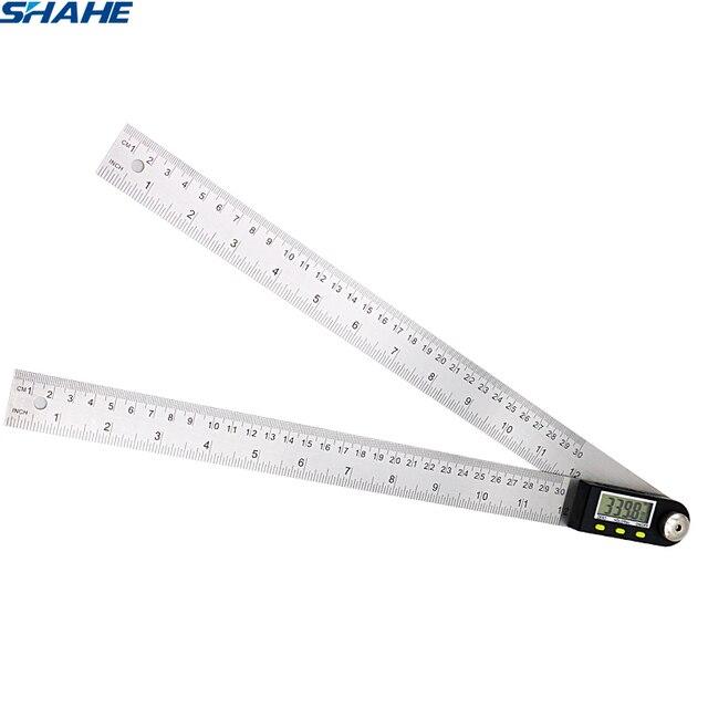 Gradenboog Rvs Digitale Gradenboog Shahe 360 Graden Gradenboogen Angle Finder Meter Digitale Hoek Heerser Goniometer