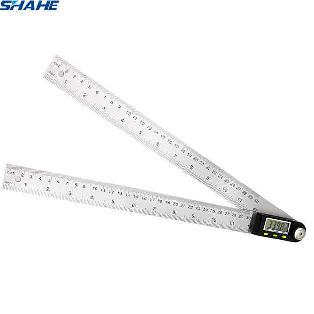 protractor stainless steel digital protractor SHAHE 360 degree goniometer angle finder meter digital angle ruler goniometer