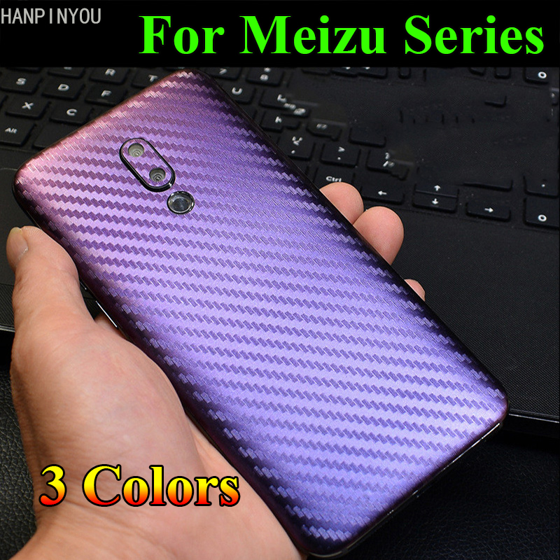 For <font><b>Meizu</b></font> <font><b>16</b></font> 16th Plus 16Xs <font><b>Pro</b></font> 3D Gradient Carbon Fiber Rear Back Cover Decal Skin Phone Protective Sticker Film Guard image