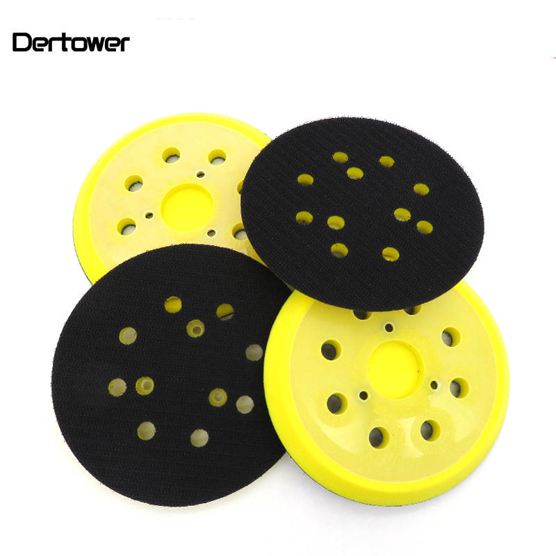 5 Inch 125mm 8-Hole 3 Nails 4 Nails Back-up Sanding Pads For Sanding Discs Fits Angle Grinder Sander Polisher Tools Accessories