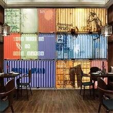 Milofi – grand papier peint personnalisé rétro créatif, conteneur graffiti, café internet, bar, outillage, mur de fond