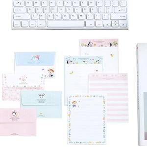 Image 3 - Lote de 30 unidades de Mini tarjetas de felicitación de dibujos animados Kawaii, juego de papel de carta, diseño de cuatro letras, 92x135mm