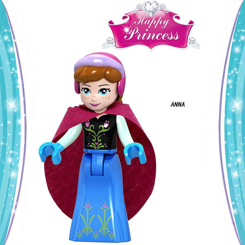 友人のためのフィギュアシンデレラアンナプリンセスマーメイド獣モデル構築キットブロックおもちゃ DIY キットレンガ妖精物語女の子