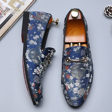 Men Casual Embroider Shoes Big Size 38-48 Flats Shoes for Men Loafers Shoes Soft Comfortable Man Footwear
