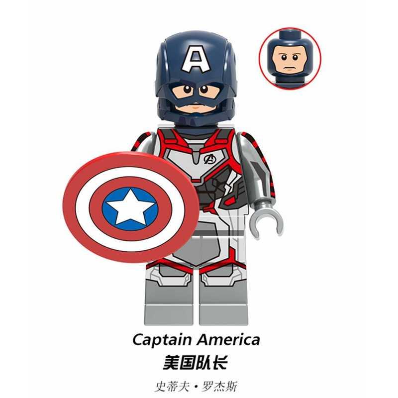 Marvel Avengers 4 Endgame Super Heroes Iron Man กัปตันอเมริกา Thor Spiderman Thanos ตัวเลขบล็อกเด็กของเล่นของขวัญ