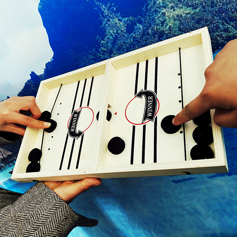 Fast Hockey Sling Puck Game Paced Sling Puck Winner Fun Toys Board-Game New Party Game Toys For Adult Child Family