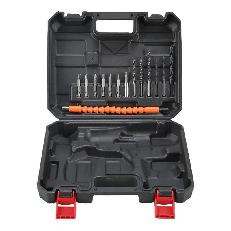 14pcs Hand Tool Set General Household Repair Hand Tool 255*215*55mm Multi-function Hardware Tool Electric Drill