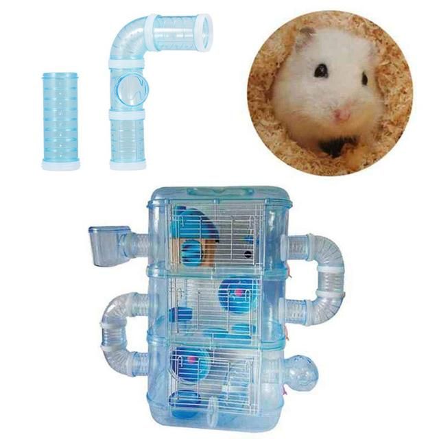 DIY U-type Plastic Pipe Line Tube Training Playing Connected External Tunnel Toys for Small Animal Hamster Cage Hamster Sports 1