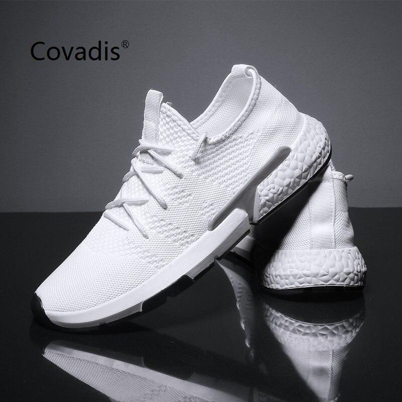 Летняя мужская повседневная обувь модная дышащая обувь на плоской подошве со шнуровкой прогулочная обувь для мужчин уличные кроссовки ... - 4