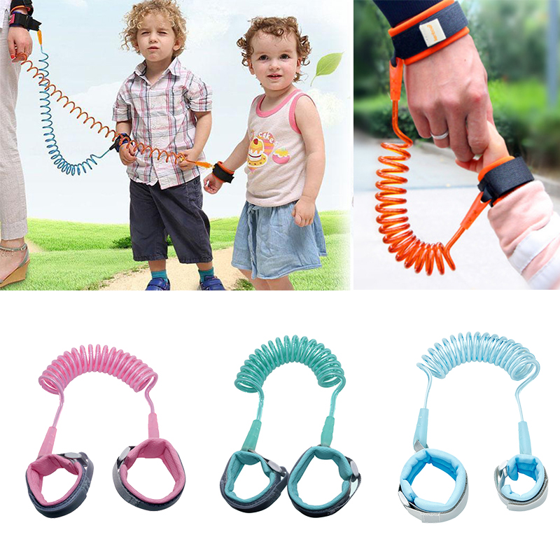 Toddler Anti Lost Safety Wrist Link Kids Reflective Anti-Lost Walking Harness Baby Harness Safety Leash Color : Blue