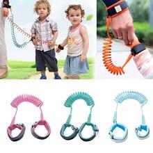 Обновленный браслет с защитой от потери на запястье, поводок для малышей, ремень безопасности для детей, браслет для прогулок, регулируемый ремень