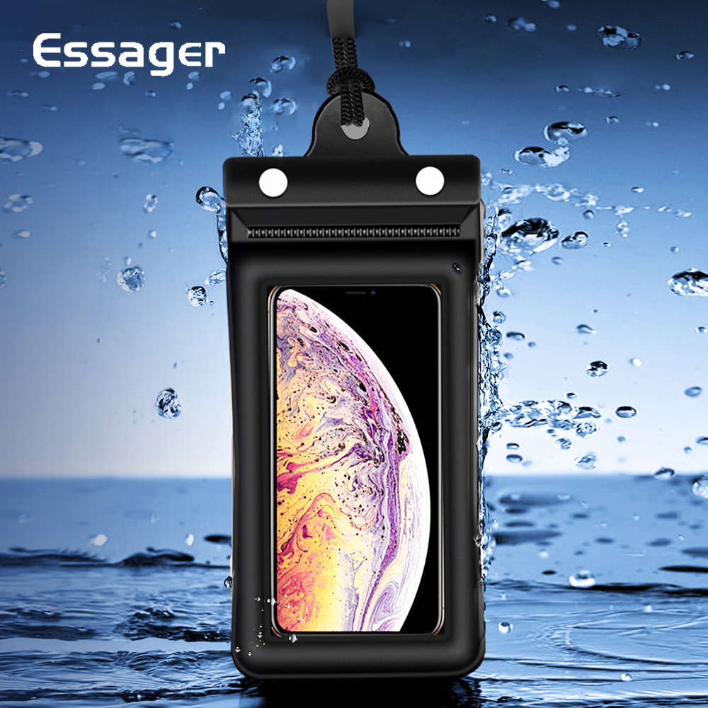 Essager Waterproof Case For iPhone 11 Pro Xs Max Xr Xiaomi mi 10 Redmi Note 8 Protective Phone Pouch Swimming Water proof Cover(China)