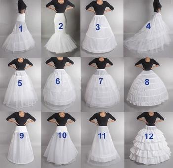 Suknia ślubna krynolina Slip podkoszulek suknia ślubna Hoop Vintage slipy tanie i dobre opinie SHEWG YI DRESS Poliester 95854522 Tkane Dla dorosłych Petticoat White One Size Regular Polyester