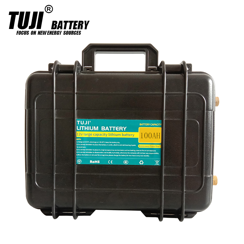 12V 100AH li-ion <font><b>battery</b></font> 12 <font><b>3S</b></font> Lithium <font><b>battery</b></font> <font><b>pack</b></font> for led light / ebike / boat backup power With 50A BMS 5A charger image
