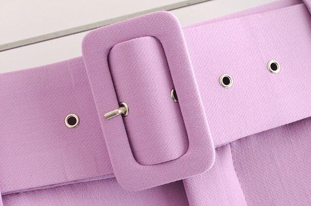 biege suit pants women high waist cargo pants belt solid color trousers joggers pantalones de mujer 5