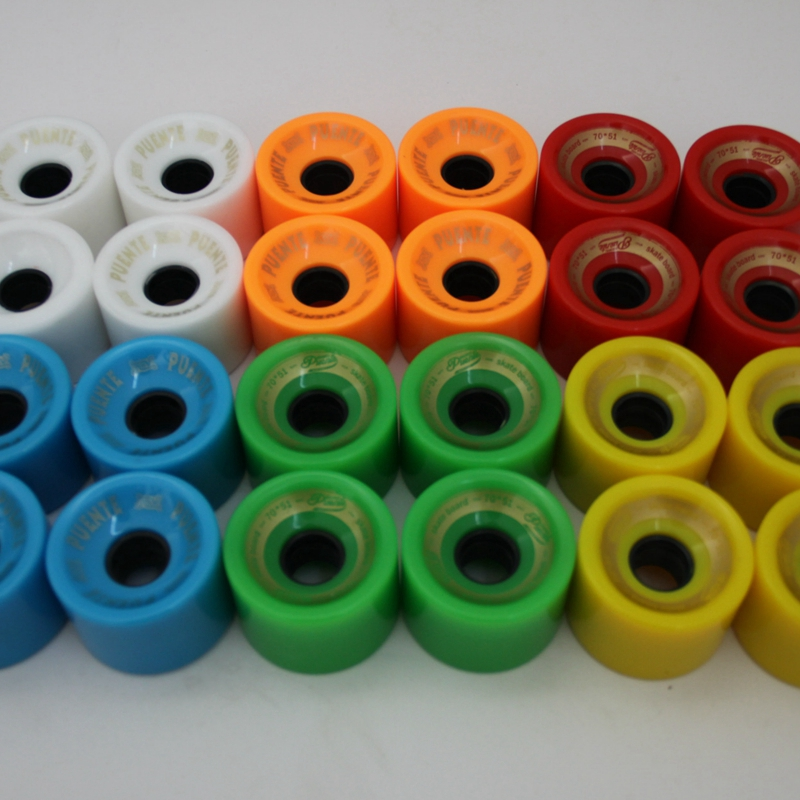 2020 New Arrival High Quality 4pcs/set 70 X 51mm Cruiser Skateboard Wheels Durable PU Wheels Longboard Cruiser Wheels