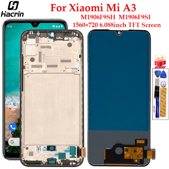 TFT Display For Xiaomi Mi A3 LCD Display With Frame Touch Screen Replacement Digitizer Assembly For Xiaomi Mi A3 A 3 LCD Display tested 6 44 for xiaomi mi max 3 max3 lcd display touch screen digitizer assembly replacement accessories for mi max3 lcd