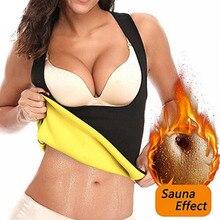 Body-Shaper Belly-Fat-Burner Compression Vest Sweat-Shirt Waist-Trainer Slim Zipper Neoprene