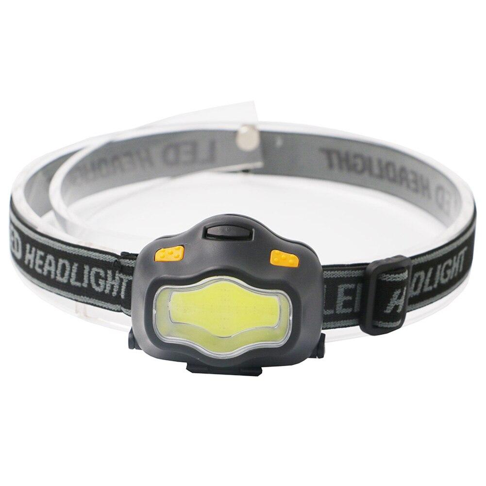 3W Mini Waterproof Fishing Headlamp 3 Modes Flashlight Torch Outdoor Light COB LED Battery Powered Lamp Adjustable Camping