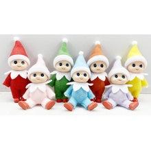 7cm da criança do bebê elfo bonecas com braços móveis pernas casa de bonecas acessórios de natal do bebê elfos brinquedo para crianças