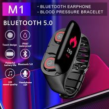 M1 Wireless Bluetooth Earphone With Heart Rate Monitor Stereo Earbud Headset Lon